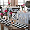 black-and-white-striped-table-runners