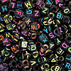 black-square-neon-alphabet-beads