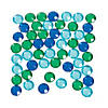 Blue & Green Faceted Round Gems Image Thumbnail 1
