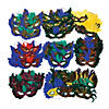 Bulk Mardi Gras Feather Eye Mask Assortment - 100 pcs. Image Thumbnail 2