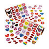 Bulk Valentine Rolls of Stickers Assortment - 10 rolls Image Thumbnail 1