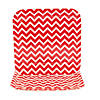 Chevron Red Paper Dinner Plates Image Thumbnail 1