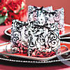 Frosted Black & White Wedding Cellophane Bags Image Thumbnail 2