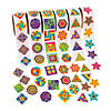 Funky Geometric Shapes Rolls of Stickers Image Thumbnail 1