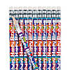 Happy Birthday Stripe Pencils - 24 Pc. Image Thumbnail 1