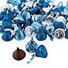 Hershey's® Kisses® Blue & Silver Chocolate Candy Image Thumbnail 1