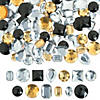 Large Black, Gold & Silver Faceted Gems Image Thumbnail 1