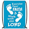 Large Exercise Your Faith Drawstring Bags Image Thumbnail 3
