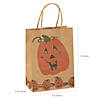 Medium Brown Jack-O'-Lantern Gift Bags Image Thumbnail 2