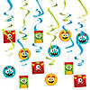 Mini Monster Swirl Decorations - 12 Pc. Image Thumbnail 1