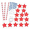 Patriotic Star Straw Necklace Craft Kit Image Thumbnail 2