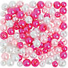 Pink & White Pearl Bead Assortment - 6mm - 8mm Image Thumbnail 1