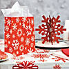 Red & White Snowflake Plastic Tablecloth Roll Image Thumbnail 2