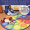 Tick-Tock Clock Activity Rug - 6ft Round Image Thumbnail 3