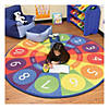 Tick-Tock Clock Activity Rug - 6ft Round Image Thumbnail 5