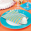 turquoise-and-orange-chevron-treat-bags