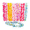 Two-Tone Flower Polyester Leis - 12 Pc.