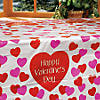Valentine Plastic Tablecloth