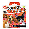 Wacky Dog & Cat Flicker Sticker Super Fun Valentine Pack