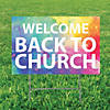 Welcome Back to Church Yard Sign Image Thumbnail 1