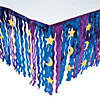 Wizard Metallic Fringe Plastic Table Skirt with Star & Moon Cutouts Image Thumbnail 1