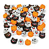 Bulk Mini Halloween Emoji Eraser Assortment - 144 Pc. Image Thumbnail 1