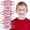 Child's Valentine Hearts Washable Face Masks - 6 Pc. Image Thumbnail 1