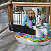 Inflatable GoFloats™ Unicorn Winter Snow Tube Image Thumbnail 1