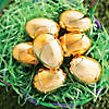 Metallic Golden Plastic Easter Eggs - 12 Pc. Image Thumbnail 1