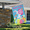 "Northlight Happy Easter Bunny with Eggs Outdoor House Flag 28"" x 40"" Image Thumbnail 2"