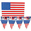 Plastic Patriotic Outdoor Decorating Kit Image Thumbnail 1