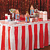 Red & White Striped Table Skirt Image Thumbnail 2