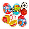 Sports Ball-Filled Plastic Easter Eggs - 12 Pc.