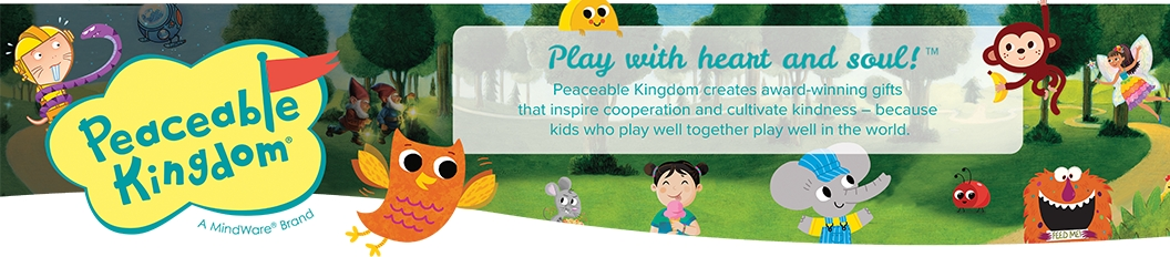 Play with hear and soul! Peaceable Kingdom creates award-winning gifts that inspires cooperation and cultivate kindness - because kids who play well together play well in the world