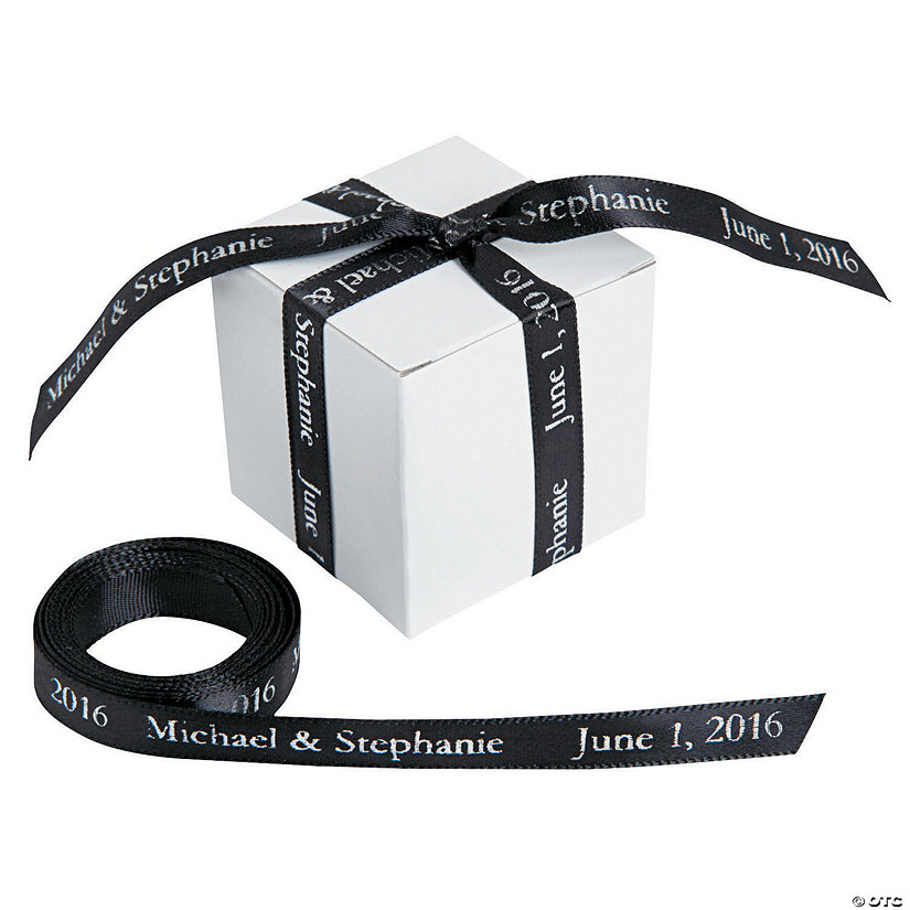 "Black Personalized Ribbon - 3/8"" Image Thumbnail"