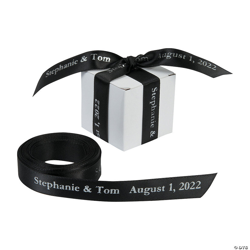 "Black Personalized Ribbon - 5/8"" Image Thumbnail"