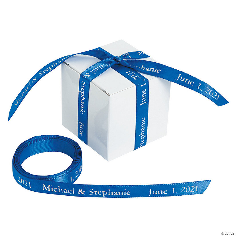 "Blue Personalized Ribbon - 3/8"" Image Thumbnail"