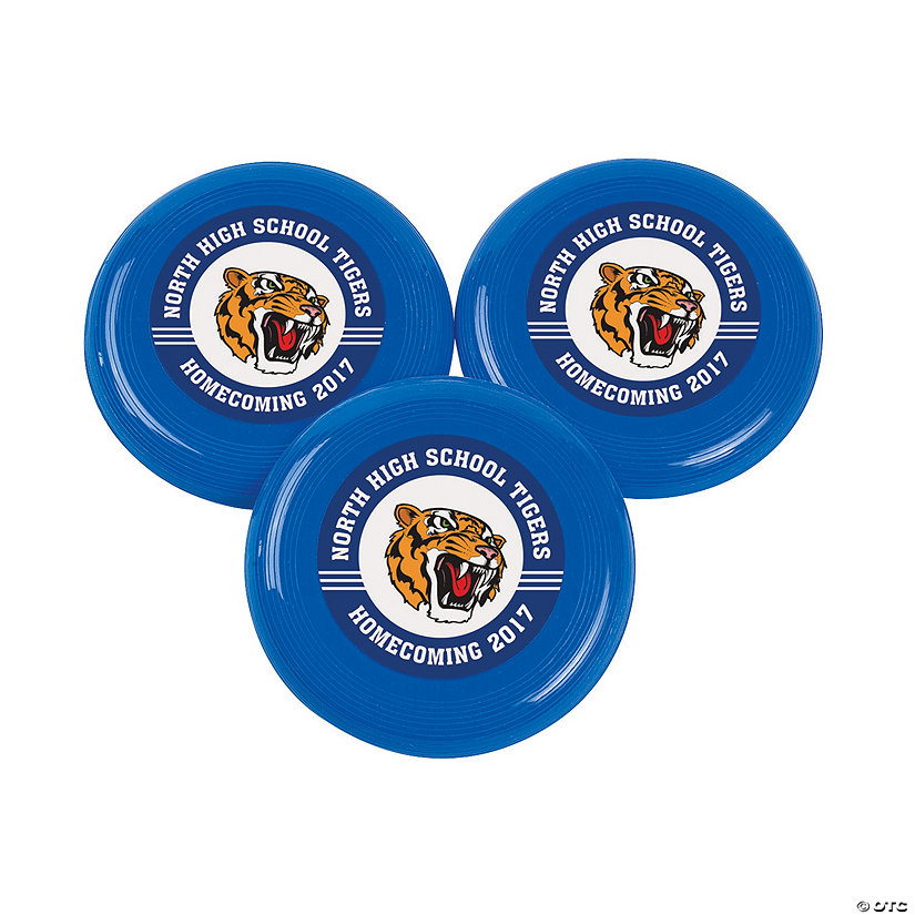 Blue Team Spirit Custom Photo Mini Flying Discs Image Thumbnail