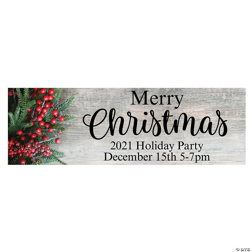 Christmas Party Custom Banner - Small Image Thumbnail