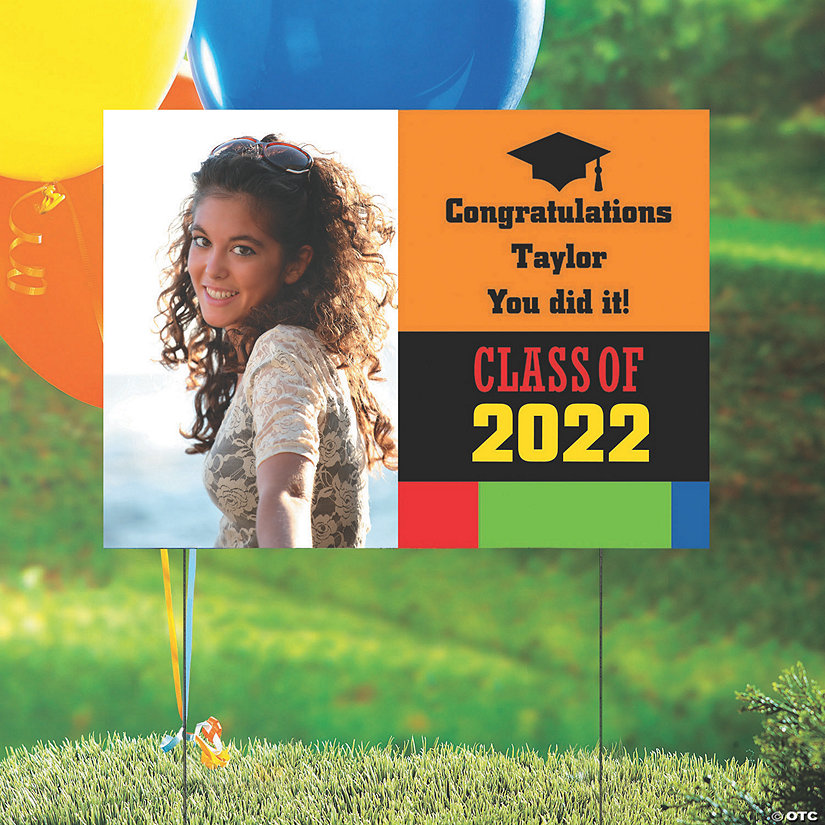 Class of 2020 Custom Photo Yard Sign Image Thumbnail
