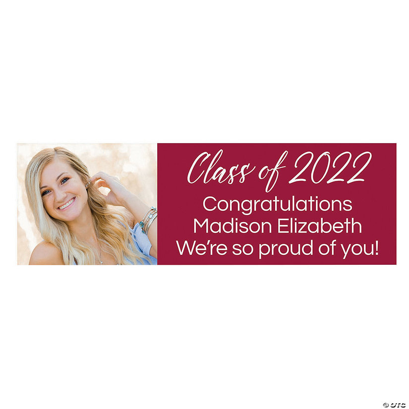Class of 2021 Graduation Photo Custom Banner - Small Image Thumbnail