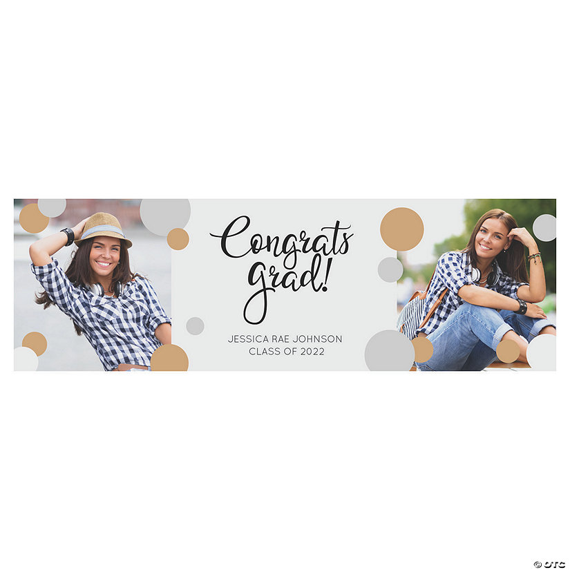 Congrats Grad Photo Custom Banner - Medium Image Thumbnail