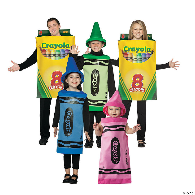 Choose Adult School Art Crayola Crayons Blue Red or Green Costume Accessory Hat