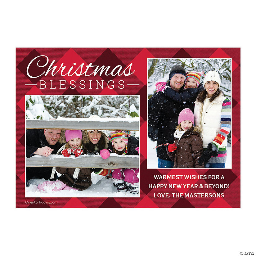 Custom Photo Christmas Blessings Cards Image Thumbnail