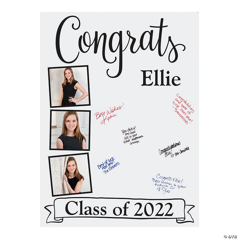 Custom Photo Graduation Sign-In Board Image Thumbnail