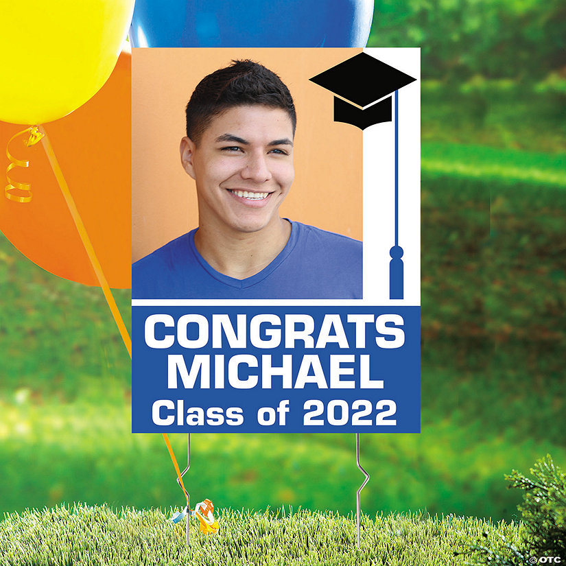 Custom Photo Graduation Yard Sign Image Thumbnail