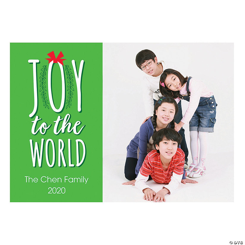 Custom Photo Joy to the World Christmas Cards
