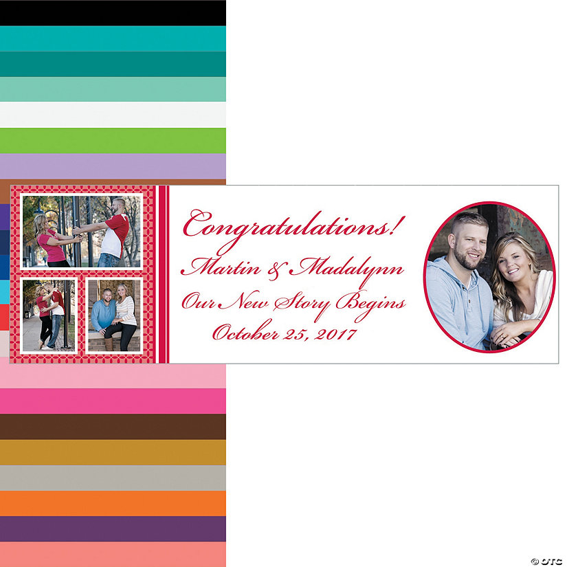 Four-Image Wedding Photo Custom Banner Image Thumbnail