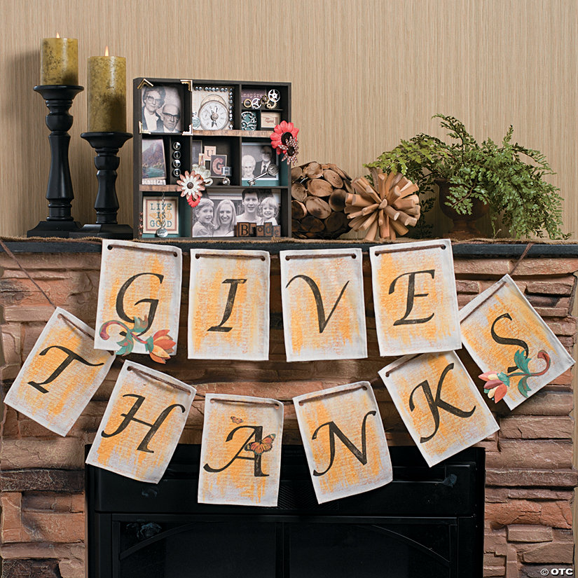"""Give Thanks"" Pennant Banner Idea Image Thumbnail"
