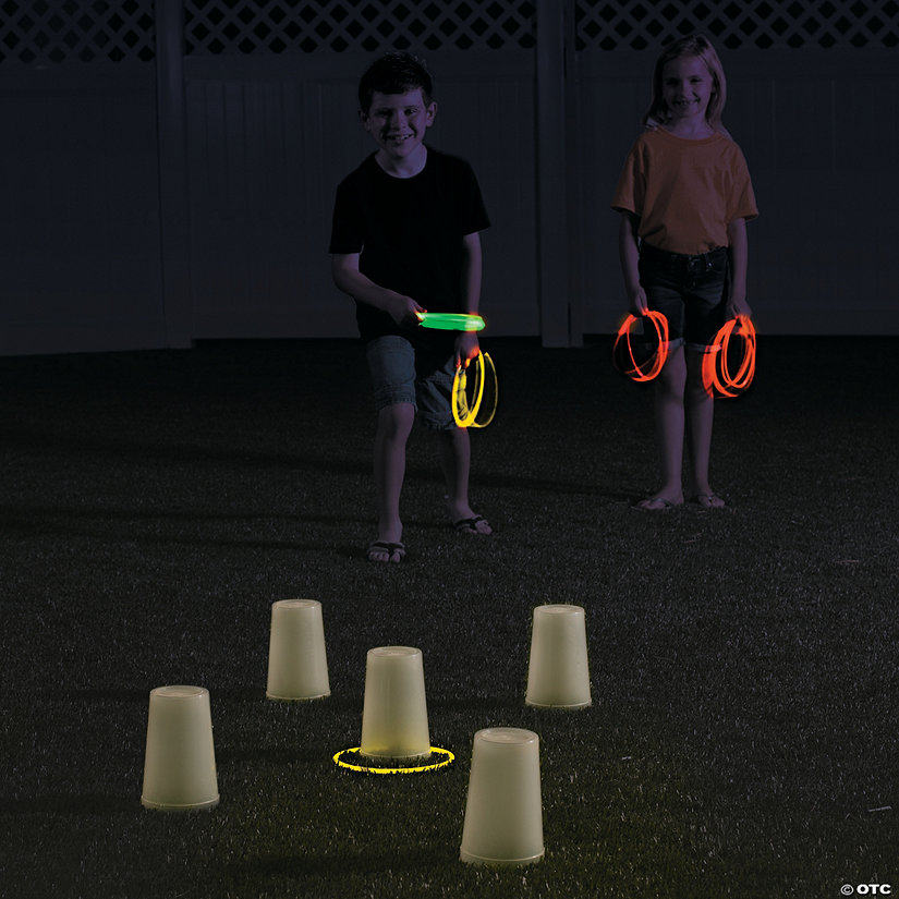 Glow-in-the-Dark Ring Toss Game Idea